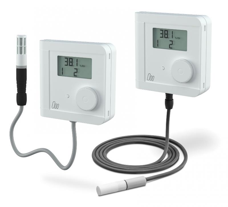 hygro thermostat lectronique avec capteur externe capteurs de l humidit et temp rature. Black Bedroom Furniture Sets. Home Design Ideas