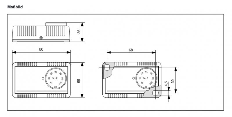 hygrostat d 39 ambiance type hg mini type hg mini i et type hg mini schnapp capteurs de l. Black Bedroom Furniture Sets. Home Design Ideas